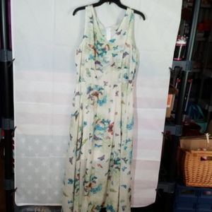 Butterfly Sheer Sleeveless Dress (Fits like xl)
